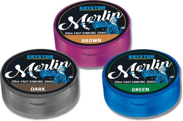 Merlin Fast Sinking Supple Braid 35lb x 20m Gravel Brown | CarpLine.hu