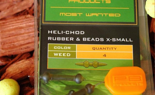 PB Products Heli-Chod Rubber & Beads XS Weed - növényzetszínű gumiütköző | CarpLine.hu