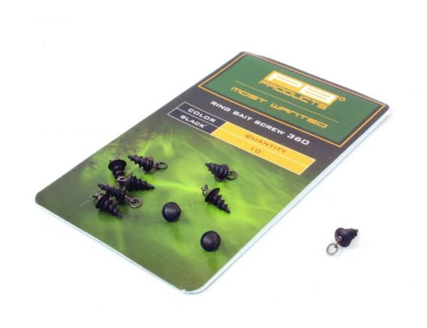 PB Products Ring Bait Screw 360 - csalirögzítő karikával / fekete | CarpLine.hu