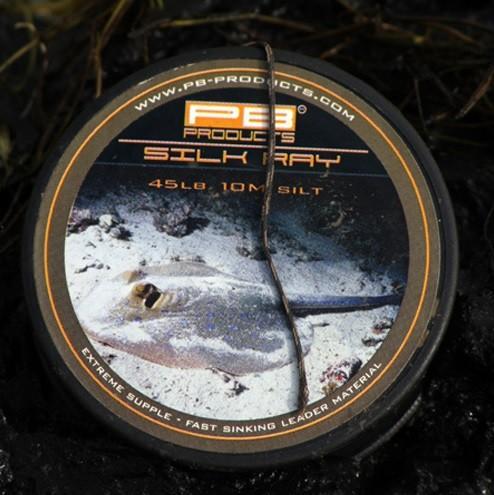 PB Products Silk Ray Silt 45LB 10M- iszapszínű ólomnélküli előkezsinór | CarpLine.hu