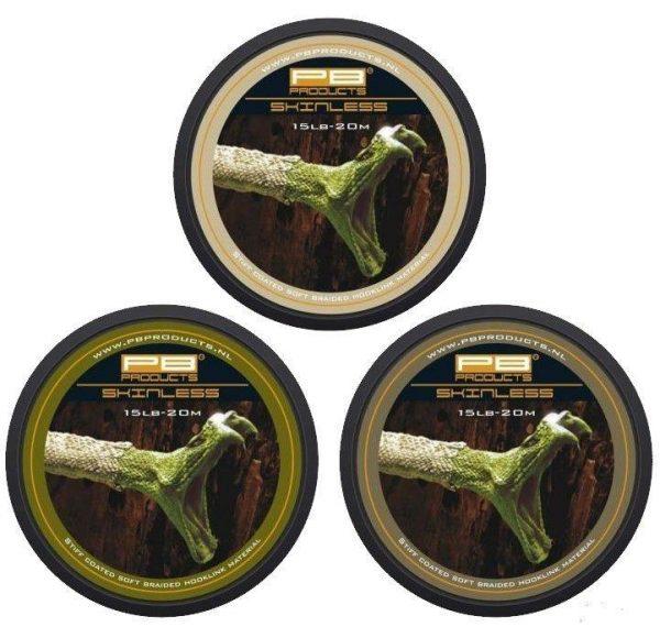 PB Products Skinless Weed 25LB 20M -merev bevonatos növényzet színű előkezsinór | CarpLine.hu