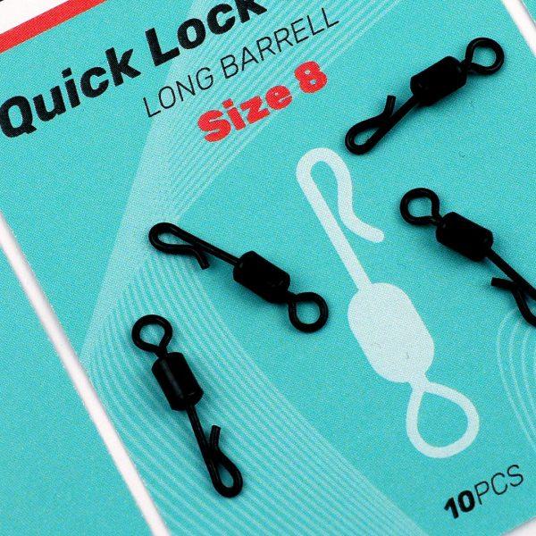 SEDO Quick Lock Swivel, Long Barrell size8   CarpLine.hu